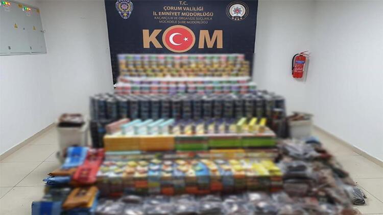 Çorum'da 831 kilo kaçak tütün ele geçirildi