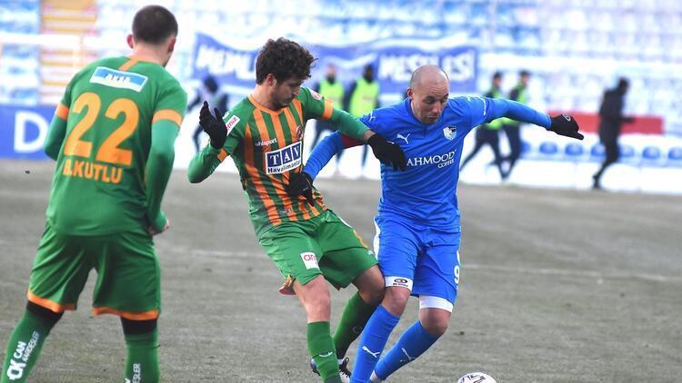 BB Erzurumspor 1-1 Alanyaspor / Maçın özeti ve goller