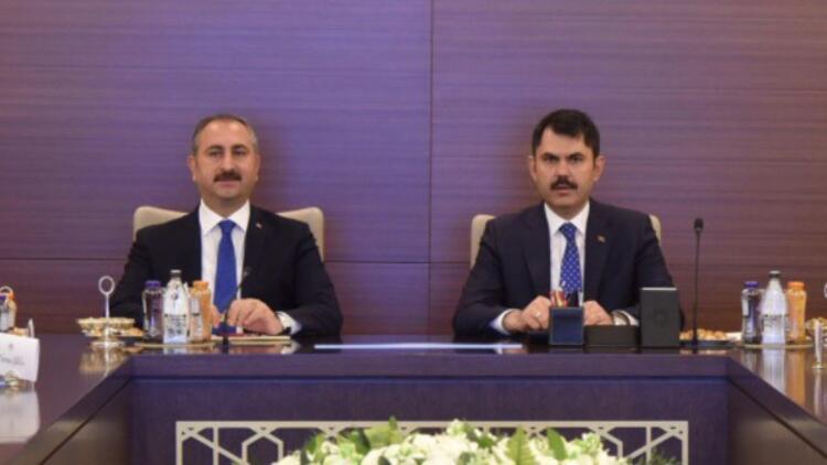 Kurum ve Gül Ankara'da yapılacak yeni adliye binasını görüştü