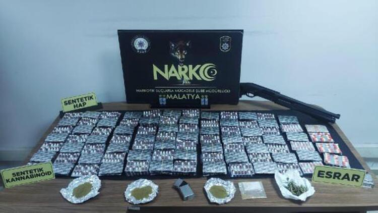 Malatya'da uyuşturucuya 13 tutuklama