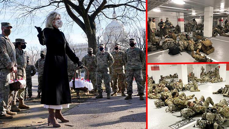 İlk günden skandal... First Lady askerlere 'kurabiye' taşıdı!