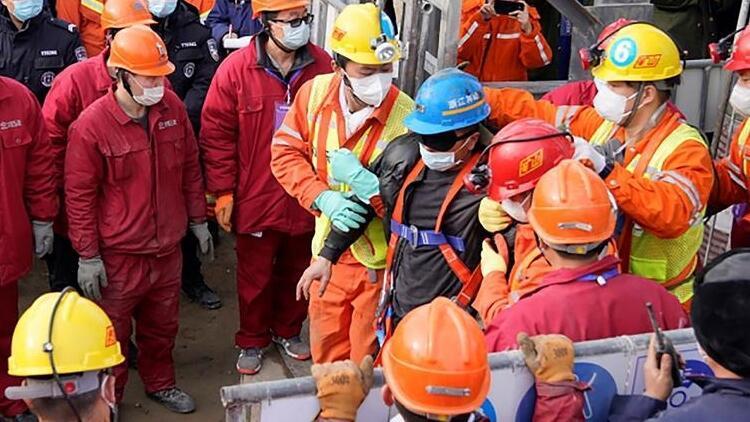 Çin'de altın madeninde mahsur kalan işçiler öldü