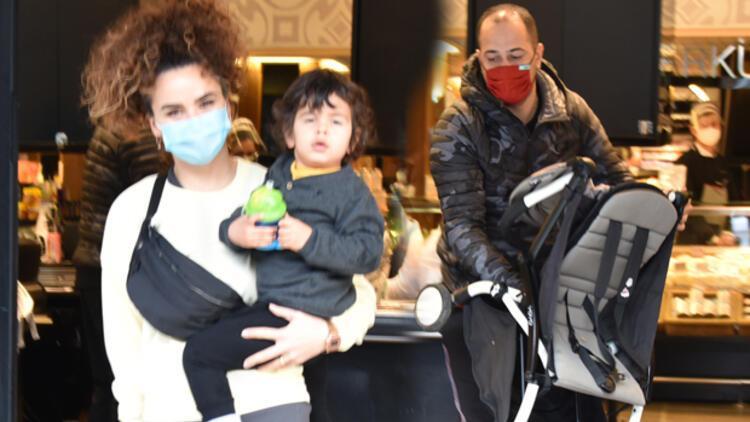 Sarp Apak ve ailesi alışverişte... Baba gibi baba!
