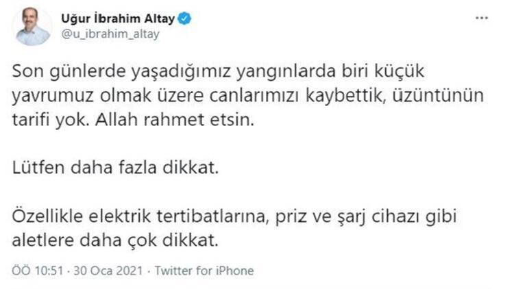 Konya'da, can kayıplarının olduğu yangınlardan sonra başkandan 'elektrik' uyarısı