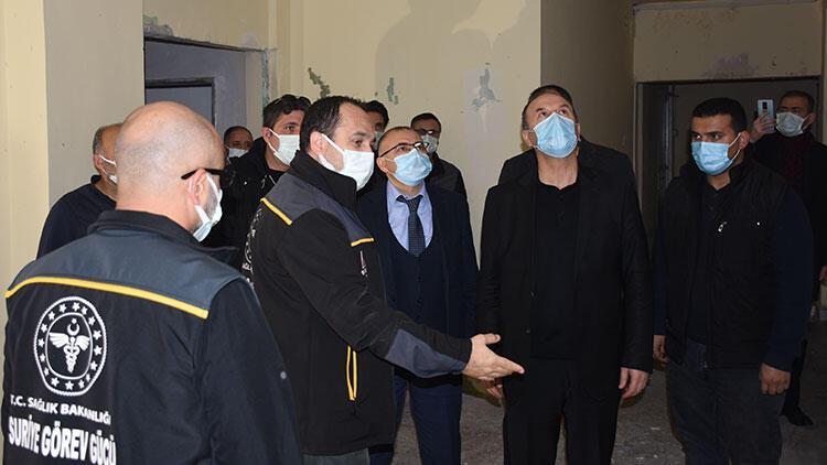 Sağlık Bakanlığı yetkililerinden Suriye'nin kuzeyinde terörden temizlenen harekat bölgelerine ziyaret