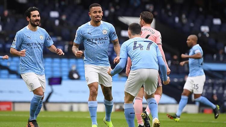 Premier Lig lideri Manchester City, Sheffield Unitedı tek golle geçti