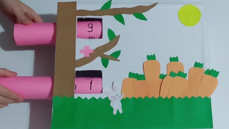Zıp zıp tavşan havuç avında (Toplama işlemi)