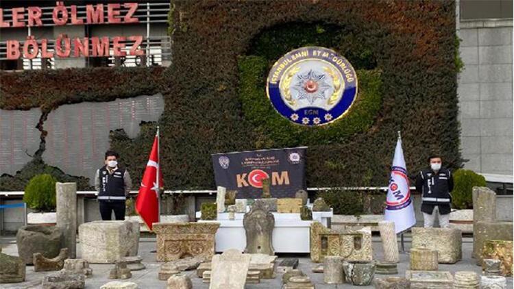 Beşiktaş'ta tarihi eser operasyonu kamerada