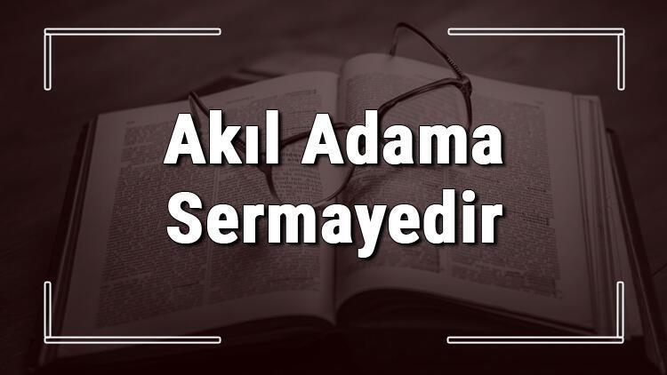 Akıl Adama Sermayedir atasözünün anlamı ve örnek cümle içinde kullanımı (TDK)