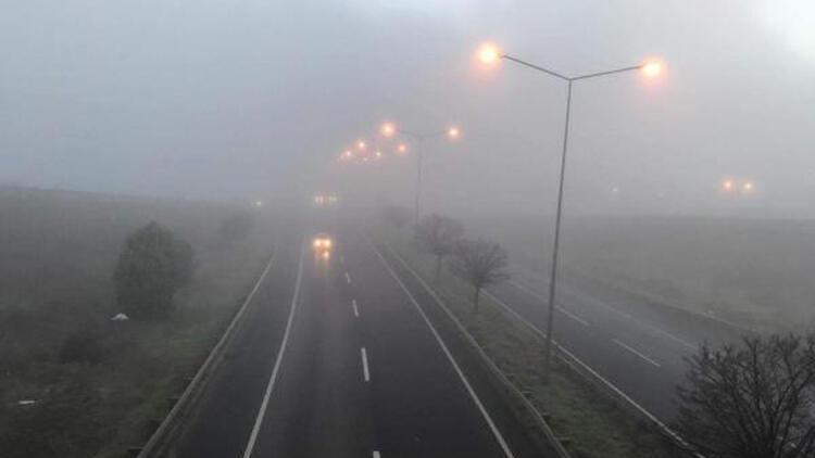 Tekirdağ'da yoğun sis etkili oldu