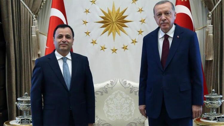 Cumhurbaşkanı Erdoğan, AYM Başkanı Arslan'ı kabul etti