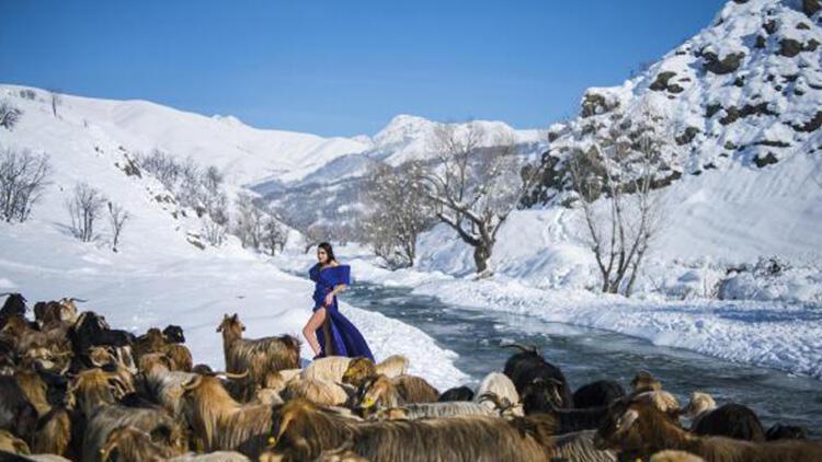 Teröristlerden temizlenen Munzur Dağları'nda moda çekimi