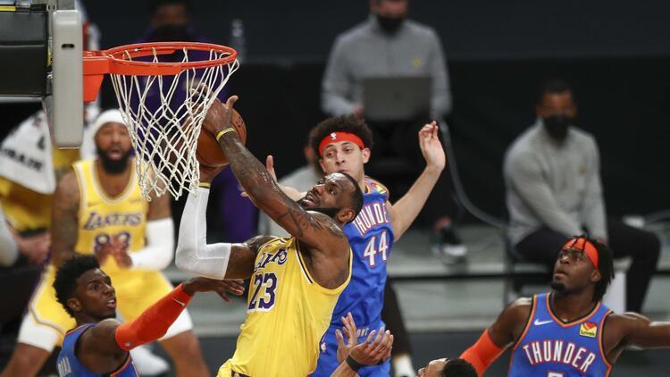 NBA'de Gecenin Sonuçları: Lakers, Thunder'ı uzatmada devirdi! Üst üste 5. galibiyet...