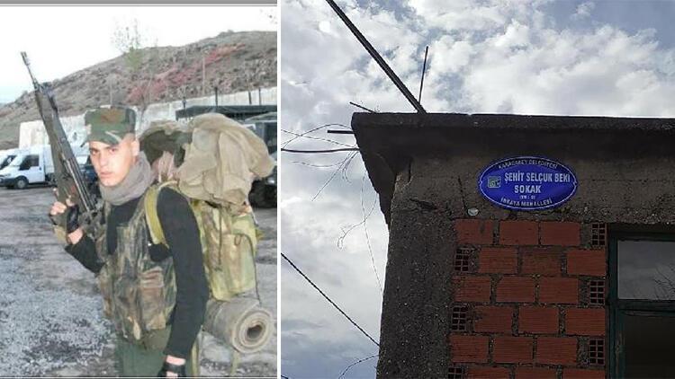 Şehit Uzman Çavuş Selçuk Beki'nin ismi, doğduğu evin sokağına verildi