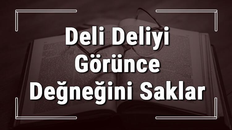 Deli Deliyi Görünce Değneğini Saklar atasözünün anlamı ve örnek cümle içinde kullanımı (TDK)
