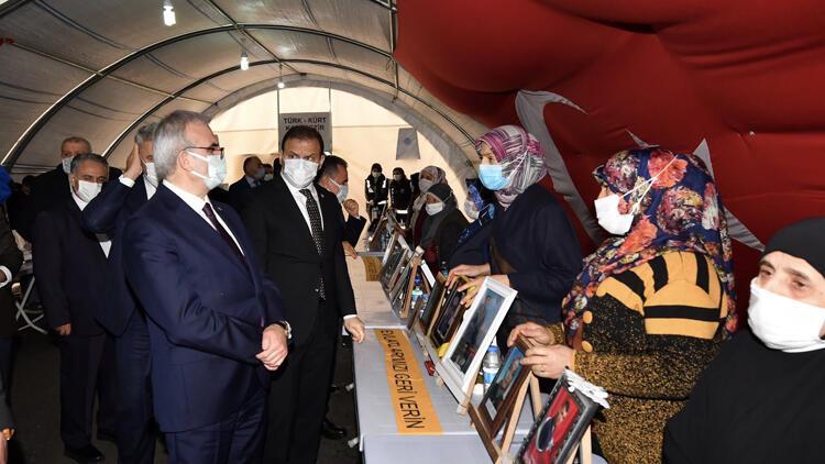 Diyarbakır'daki evlat nöbetinin 528'inci gününde ailelere destek ziyareti