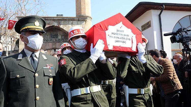 Gara şehidi Uzman Çavuş Hüseyin Sarı, Kahramanmaraş'ta toprağa verildi