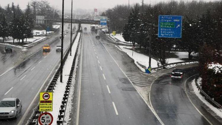Sakarya'da kar yağışı devam ediyor