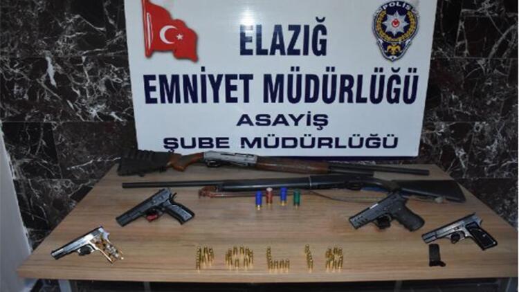 Elazığ'da, aranan şüphelilere yönelik operasyonda 33 tutuklama