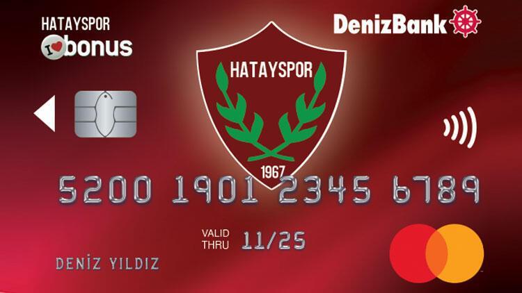 DenizBank'tan Hatayspor iş birliği ile Hatayspor Bonus Kart