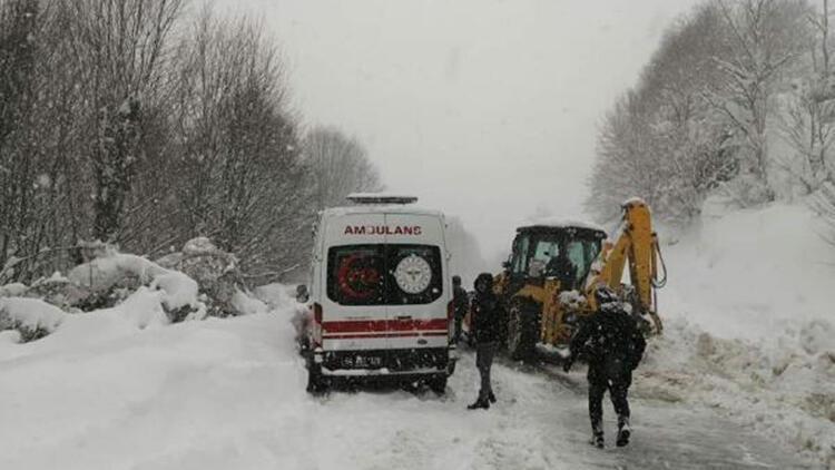 Sakarya'da kar yağışı ulaşımı olumsuz etkiledi