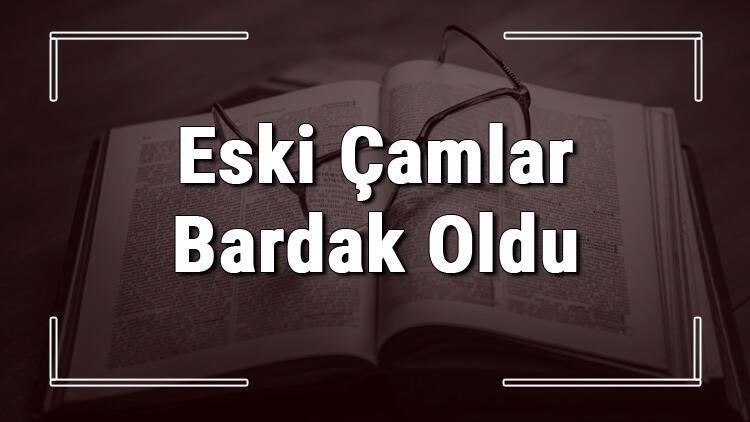 Eski Çamlar Bardak Oldu atasözünün anlamı ve örnek cümle içinde kullanımı (TDK)