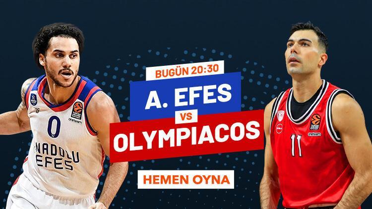Anadolu Efes'in konuğu Olympiakos! Canlı yayın ve canlı iddaa Misli.com'da...