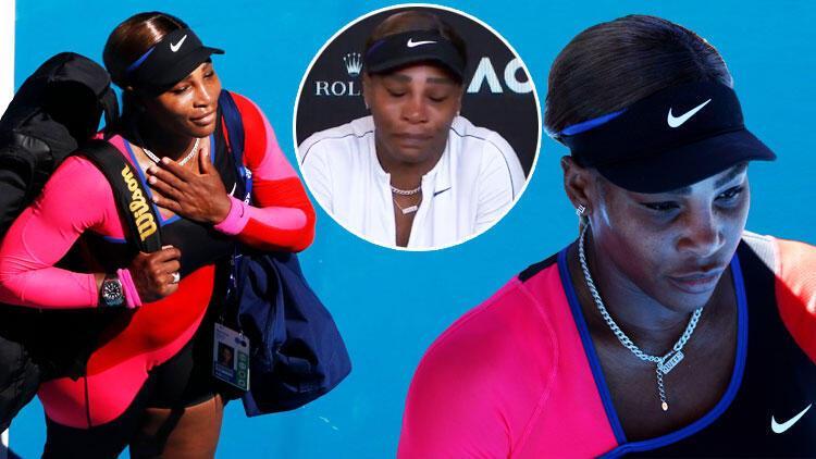Serena Williams, basın toplantısını ağlayarak terk etti!