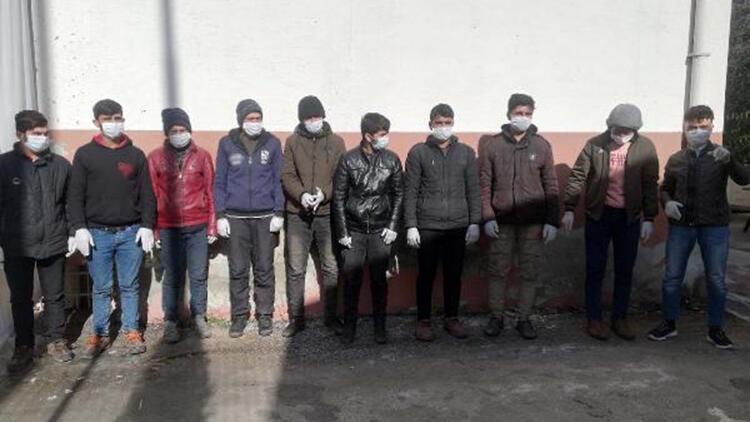 Osmaniye'de Afganistan uyruklu 10 kaçak göçmen yakalandı