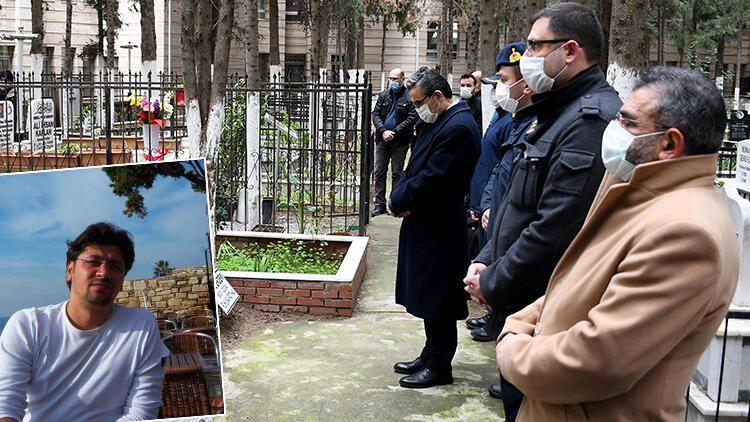 Aydın'da şehit polis Fuat Kaplan, mezarı başında anıldı