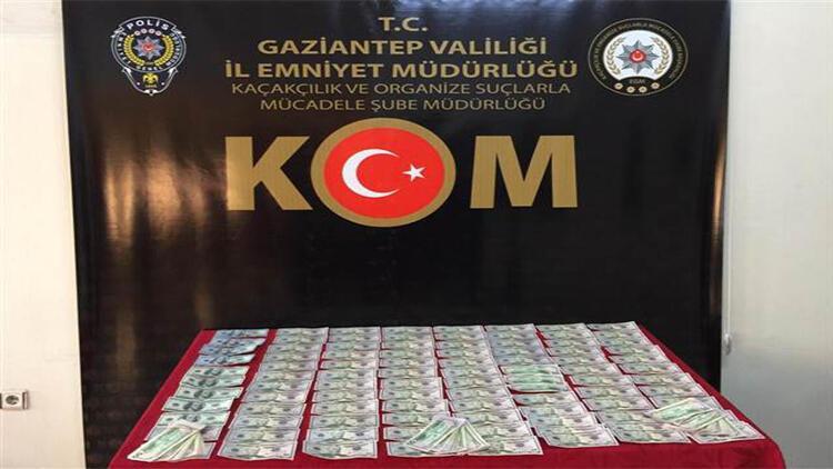Gaziantep'te kovalamaca sonucu yakalanan iki zanlının üst aramasında sahte 10 bin 900 dolar bulundu