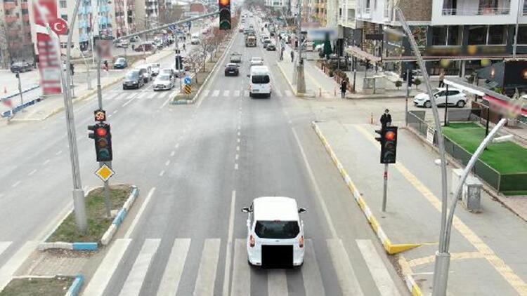 Tunceli'de dronlu trafik denetiminde 21 sürücüye ceza