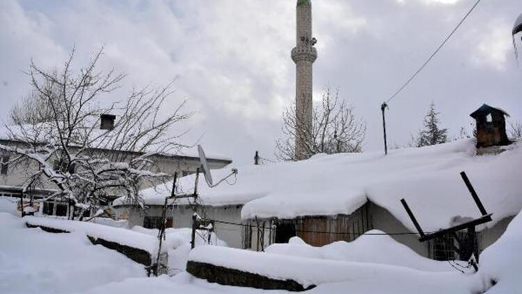 Bitlis'te 115 köy yolu, kardan kapandı