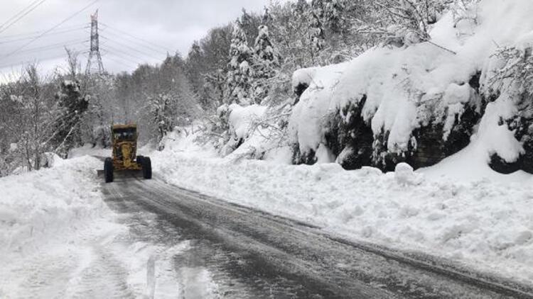 Zonguldak'ta 52 köy yolu ulaşıma kapandı