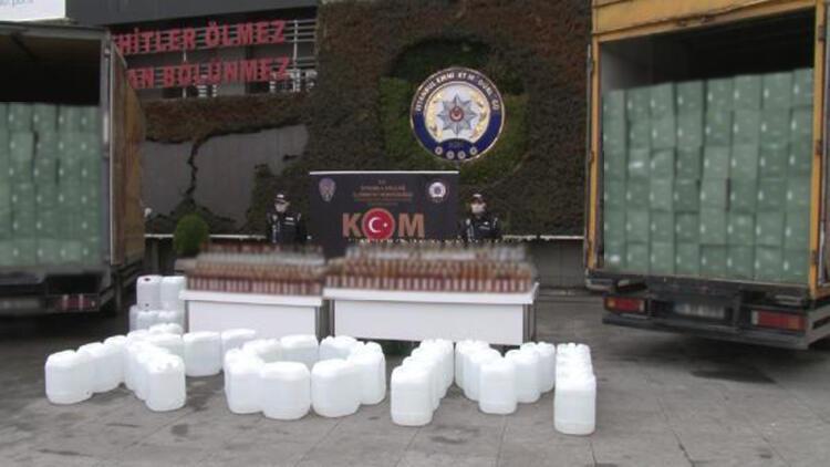 Arnavutköy ve Bağcılar'da sahte içki operasyonu kamerada