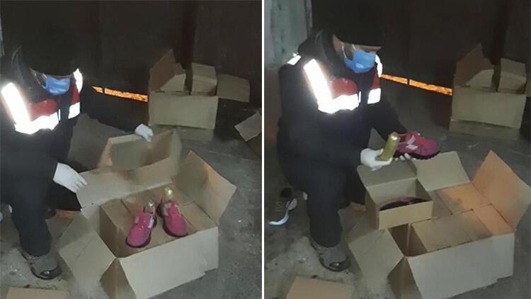 Ayakkabılara gizlenen uyuşturucu bulundu