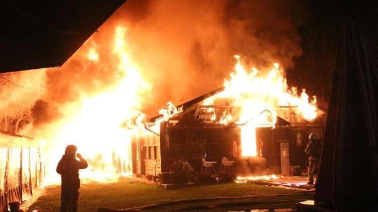Boğaziçi Üniversitesi'ndeki bir kafeteryada yangın çıktı