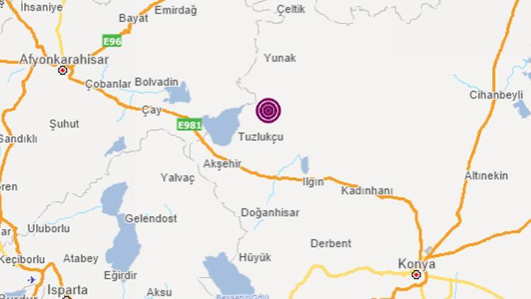 Konya'da 3.8 büyüklüğünde deprem