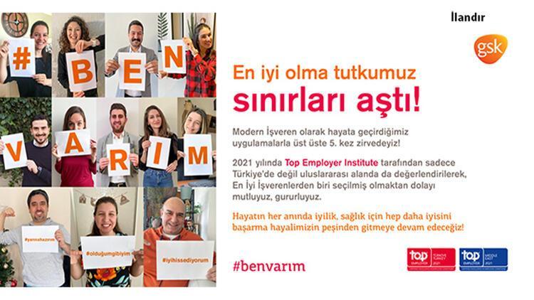 GSK Türkiye'ye en iyi işveren ödülü