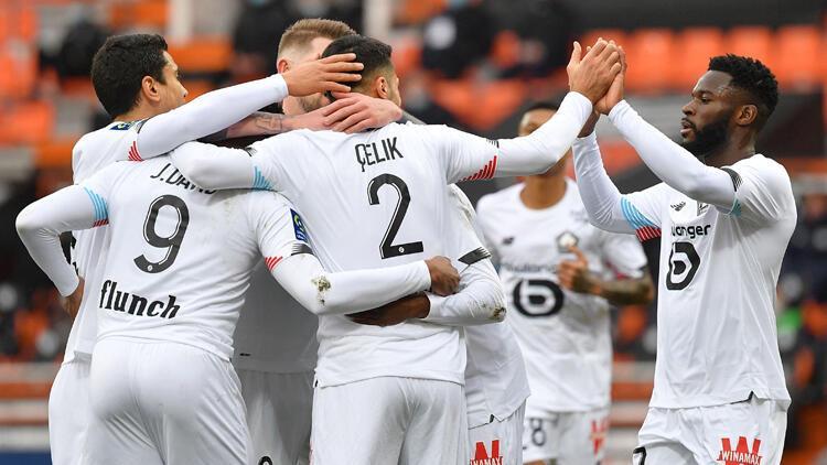 Lille, Lorient deplasmanında 3 puanı 4 golle aldı