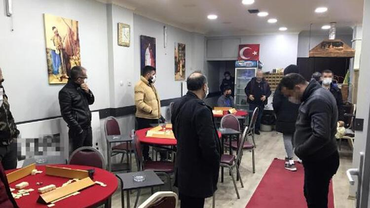 Kağıthane'de kahvehaneye baskın! 36 kişiye ceza