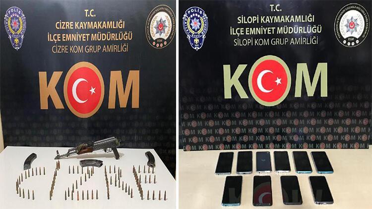 Şırnak'ta kaçakçılık operasyonu: 63 gözaltı