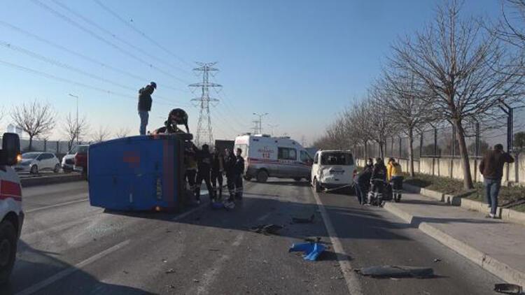 Başakşehir'de trafik kazası; 2 yaralı