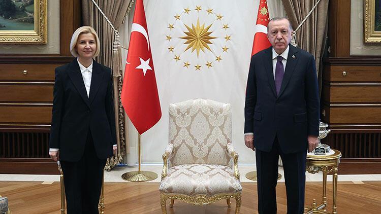 Cumhurbaşkanı Erdoğan, Gagavuz Özerk Yeri Başkanı Irina Vlah'ı kabul etti
