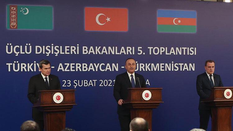 Üçlü Dışişleri Bakanları Toplantısı'nın ardından Bakan Çavuşoğlu'ndan açıklamalar