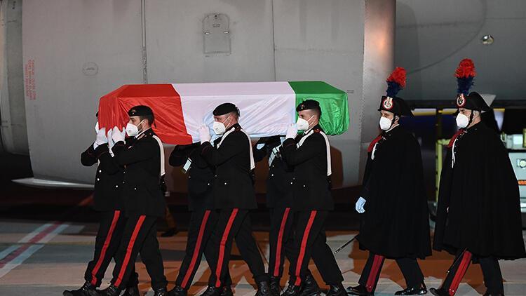 Saldırıda ölen İtalyan Büyükelçi'nin cenazesi ülkesine getirildi