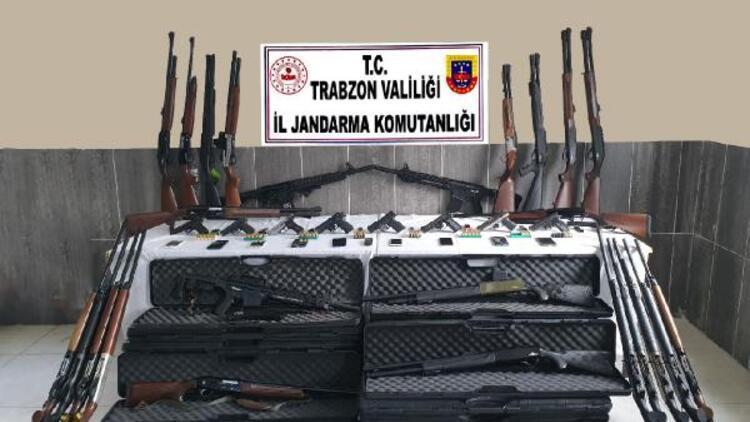 Trabzon'da silah kaçakçılığı operasyonu: 9 gözaltı
