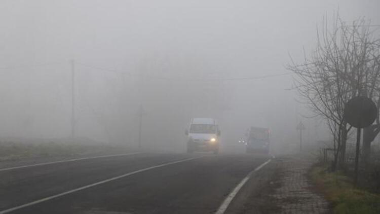 Tekirdağ'ın yüksek kesimlerinde sis etkili oldu