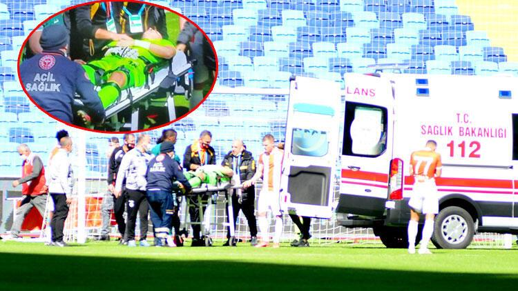 Adanaspor Giresunspor maçında korku dolu anlar! Goran Karacic ambulansla hastaneye kaldırıldı