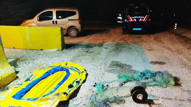 Botla kaçak balık avlanmaya 4 bin 581 lira ceza